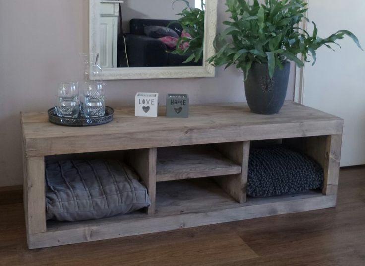tv meubel steigerhout white wash - Google zoeken