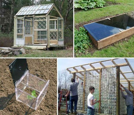 I wasn't sure if I should post this on DIY or Gardens and Outdoors. It applies to both. These are some ideas on how to build cheap but effective greenhouses. There are some really great ideas and some very simple ones that would be great for a beginner.