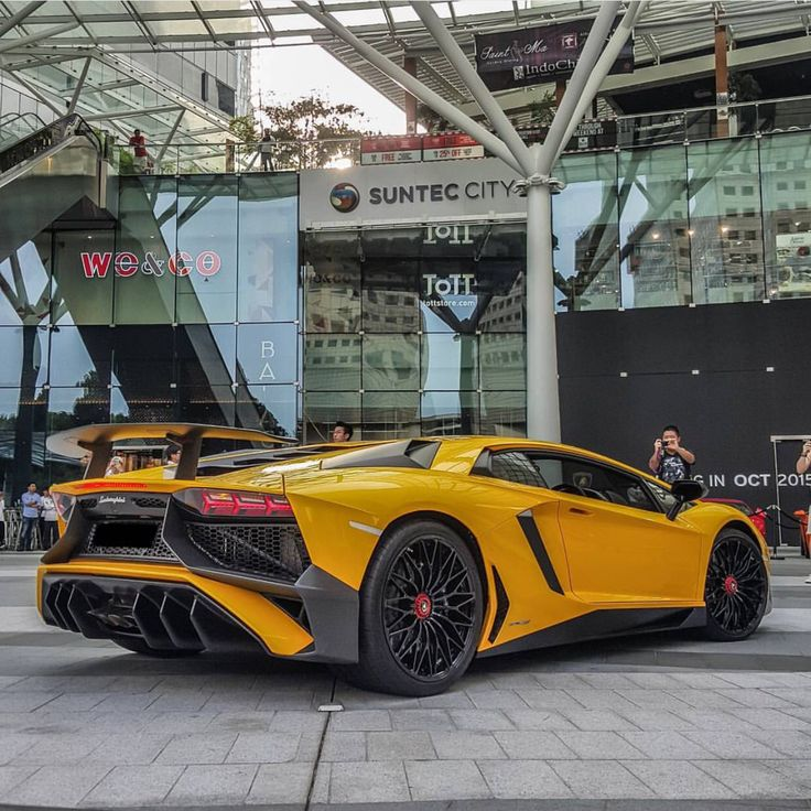 Lamborghini Aventador Super Veloce Coupe Painted In Giallo Orion Photo  Taken By: @dannypictures_ On
