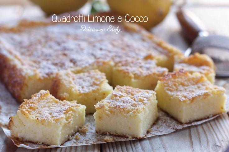 Golosissimi dolcetti morbidi all'interno e croccanti all'esterno.. i Quadrotti Limone e Cocco sono davvero buonissimi e facili da preparare