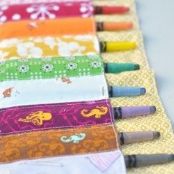 Crayon Storage Roll-Up | AllFreeSewing.com