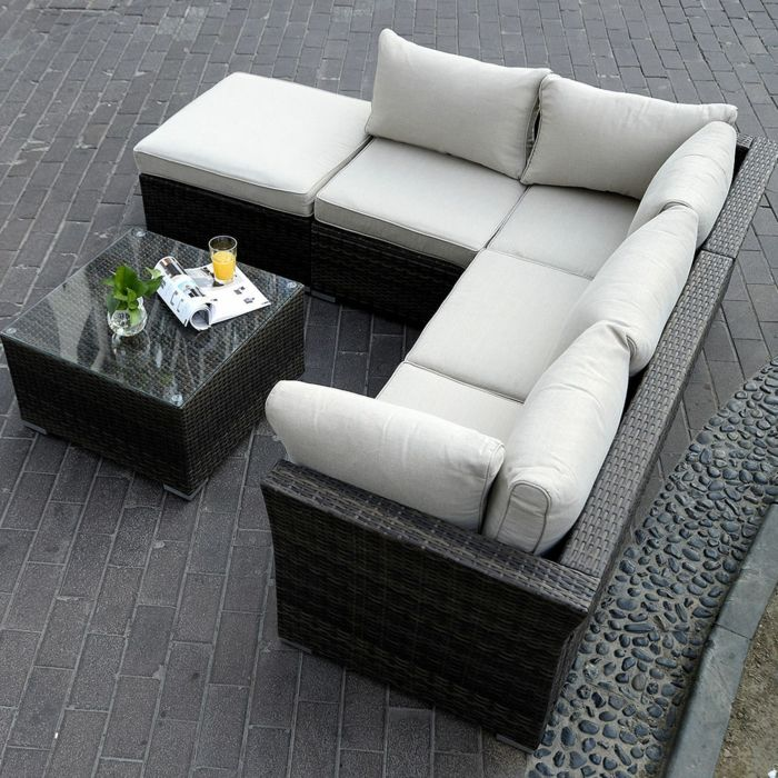 Die besten 25+ Korbmöbel für Terrasse Ideen auf Pinterest - Sofa Im Garten 42 Gestaltungsideen Fur Gemutliche Sitzecken Im Freien