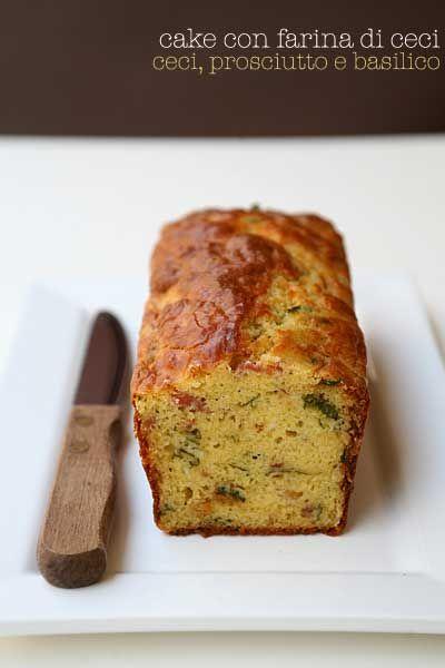 Cake salata alla farina di ceci con prosciutto e basilico - Salted Chickpeas cake with ham and basil