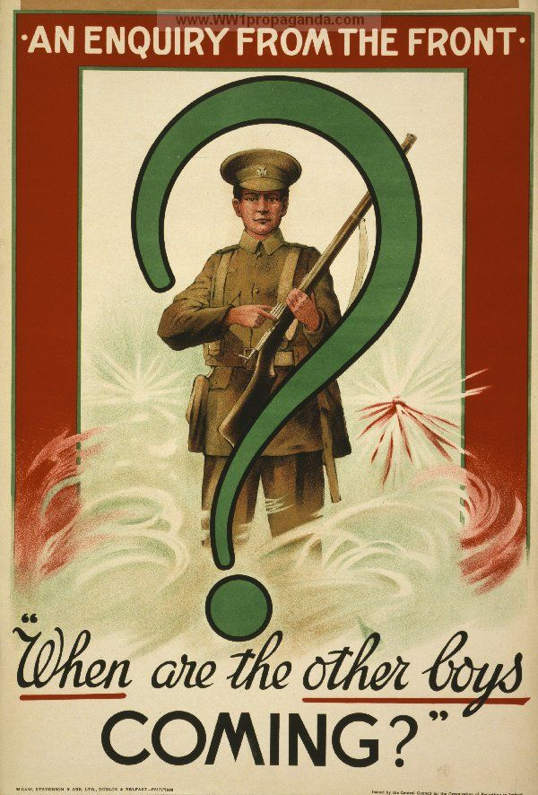 Examples of Propaganda from WW1 | Irish WW1 Propaganda Posters Page 8