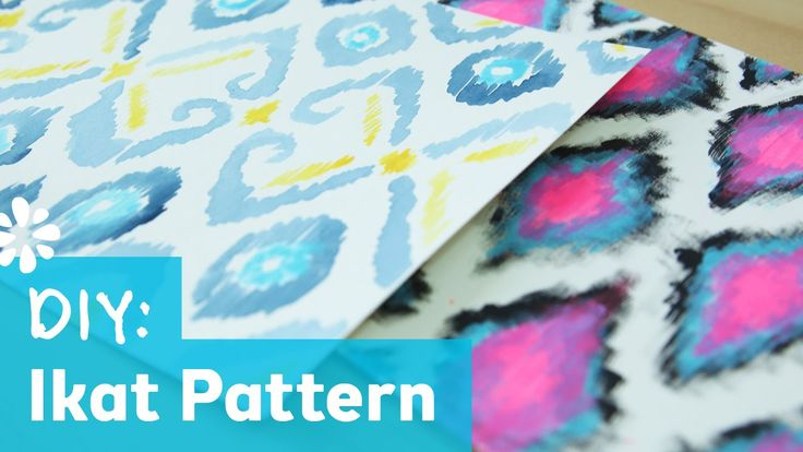 DIY Ikat Print Pattern - simple painting methods