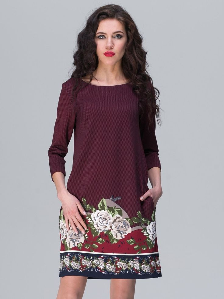 Jet Women Dress Color Bordo