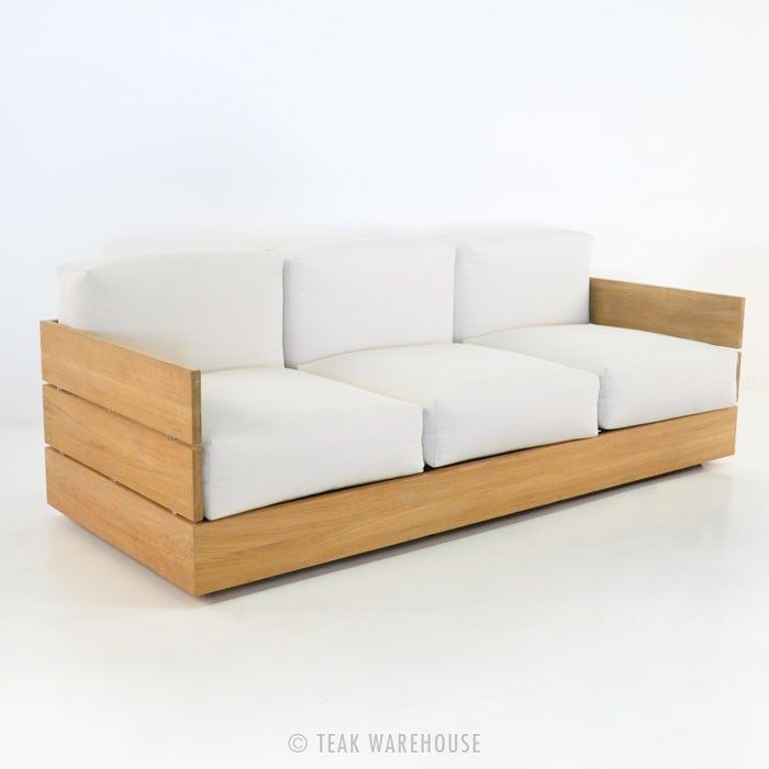 Teak Warehouse   Soho Teak Outdoor Sofa