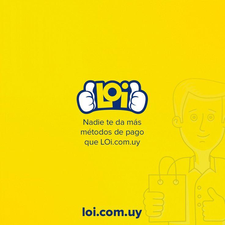 En LOi.com.uy podés pagar online con Tarjeta Creditel, OCA, VISA, Mastercard, Lider, Diners, Diners Discover, eBrou, Santander y BBVA! Muchos métodos de pago, muchas cuotas ¡muchas Ofertas Irresistibles!