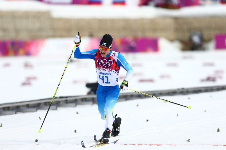 DAY 8:  Matti Heikkinen of Finland competes during the Cross Country Men's 15km Classic http://sports.yahoo.com/olympics