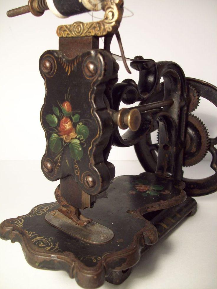 ANTIQUE / VINTAGE A. F. JOHNSON & Co. HAND CRANK SEWING MACHINE