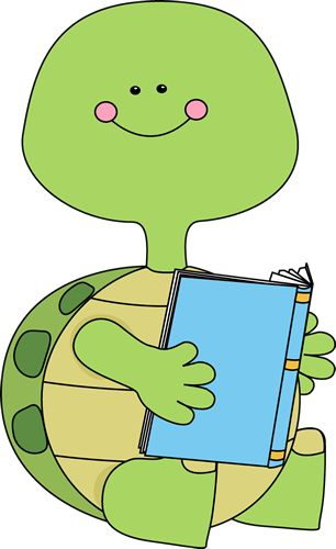 Turtle Reading a Book