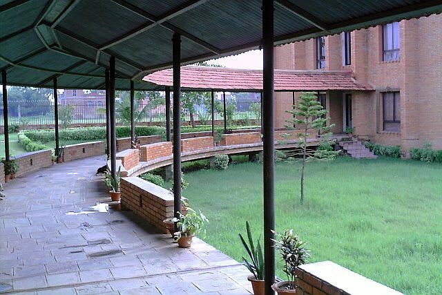 connecting buildings through natural covered walkways india - Google Search