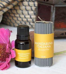 Aceite esencial de Mandarina Italiana. Dulce y afrutado, levanta el ánimo.