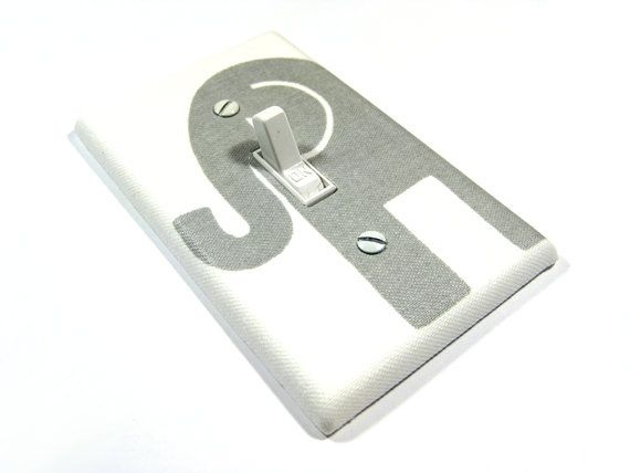 Grey Gray Elephant Nursery Decor Light Switch by ModernSwitch, $8.00