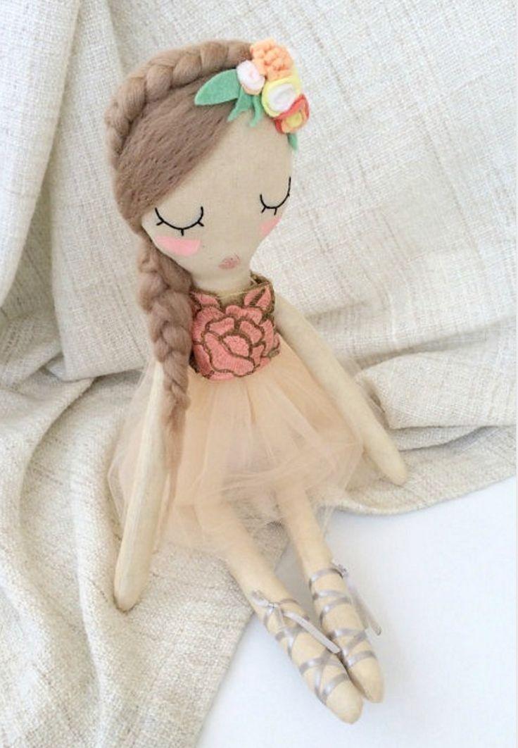 Handmade Ballerina Doll   VelvetRainbows on Etsy
