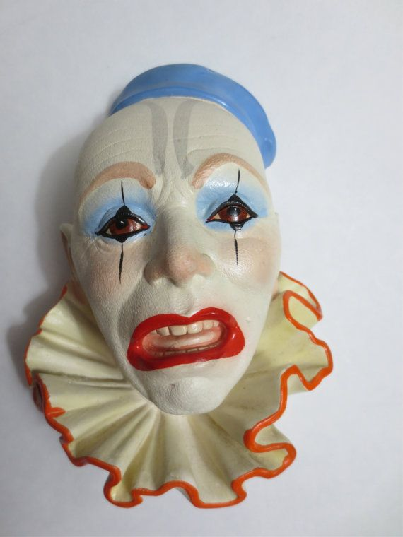 Vintage Clown Face Chalkware Legend Products of England ...