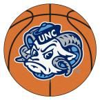 Ncaa University of North Carolina Chapel Hill Ram Logo Orange 2 ft. 3 in. x 2 ft. 3 in. Round Accent Rug