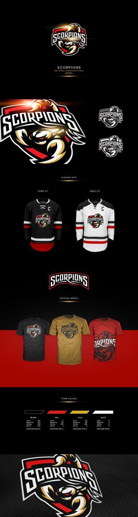 "Logo for ""Abu Dhabi Scorpions"" - hockey team based in Abu Dhabi, UAE"