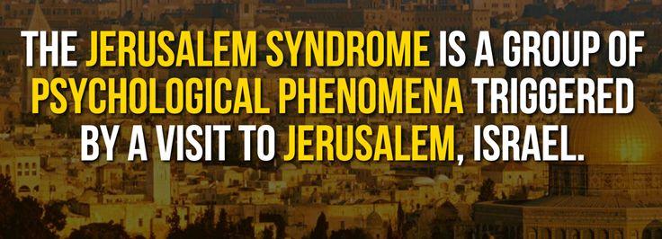 Jerusalem Syndrome #FactOfTheDay