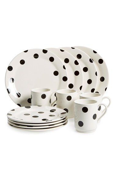 Kate Spade New York All In Good Taste Stoneware Place Setting 12 Piece