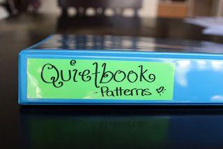 Tobler Tales: Quiet Book Week - Keeping Organized