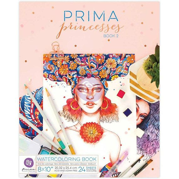 Prima Princesses Watercolor Paper Coloring Book 2 Item Coloring Books Prima Watercolor Watercolor Books