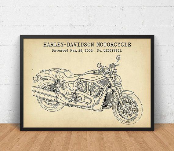 Harley davidson motorcycle blueprint art motorcycle patent art harley davidson motorcycle blueprint art motorcycle patent art motorbike diagram gift for him motorcycle poster digital download print blueprint art malvernweather Gallery