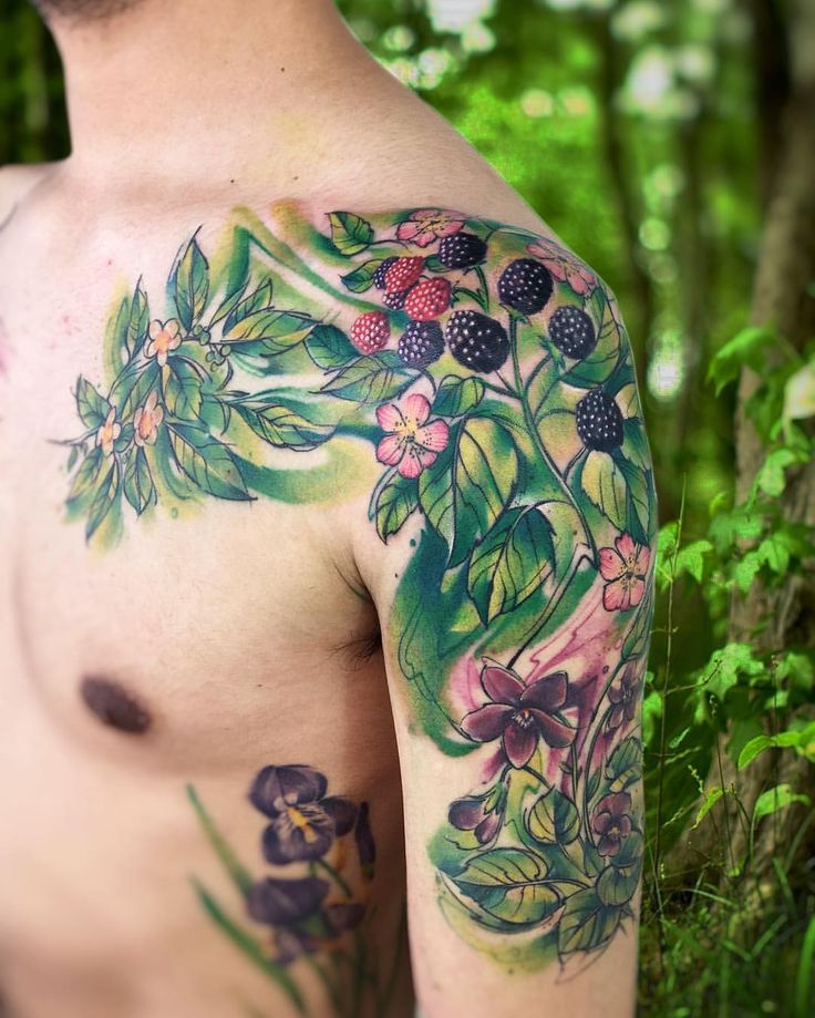 """5,071 Likes, 40 Comments - Adrian Bascur (@adrianbascur) on Instagram: """"Hierb plant AB #tattoo #tatuaje #ab #plantas #verde #green #colors #plant #aquarelle #watercolor…"""""""