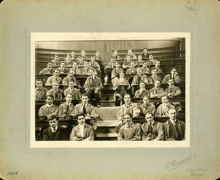 Grignon, amphithéâtre (Promotion 90), photographie ancienne, année 1916 /  ©Musée du Vivant - AgroParisTech