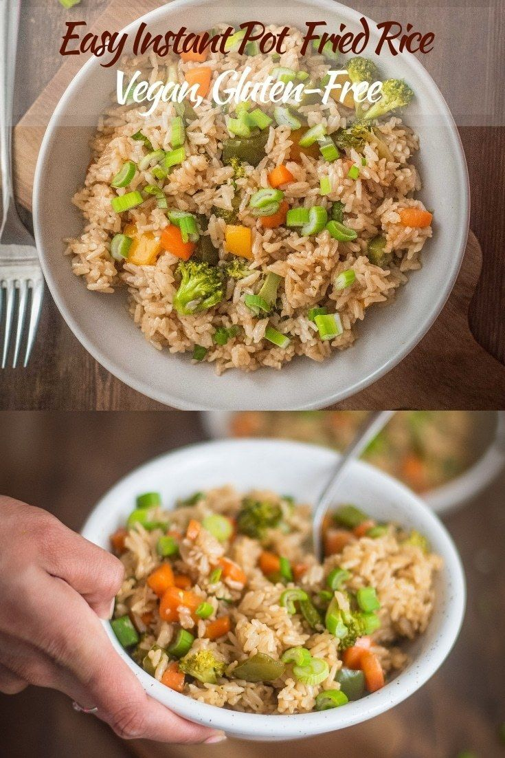 Easy Instant Pot Fried Rice Vegan And Gluten Free