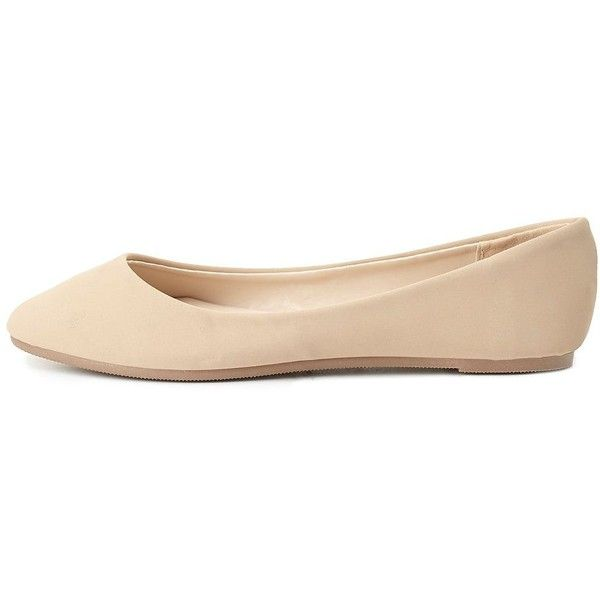 Charlotte Russe Bamboo Almond Toe Ballet Flats ($20) ❤ liked on Polyvore featuring shoes, flats, zapatos, ballet flats, footwear, nude, ballerina pumps, charlotte russe flats, ballerina flat shoes and bamboo flats