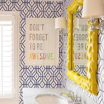 Yellow and Blue Bathrooms, Contemporary, Bathroom, Delicious Designs