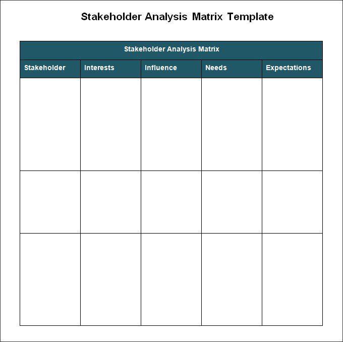 Stakeholder Analysis Templates 8 Free Printable Excel