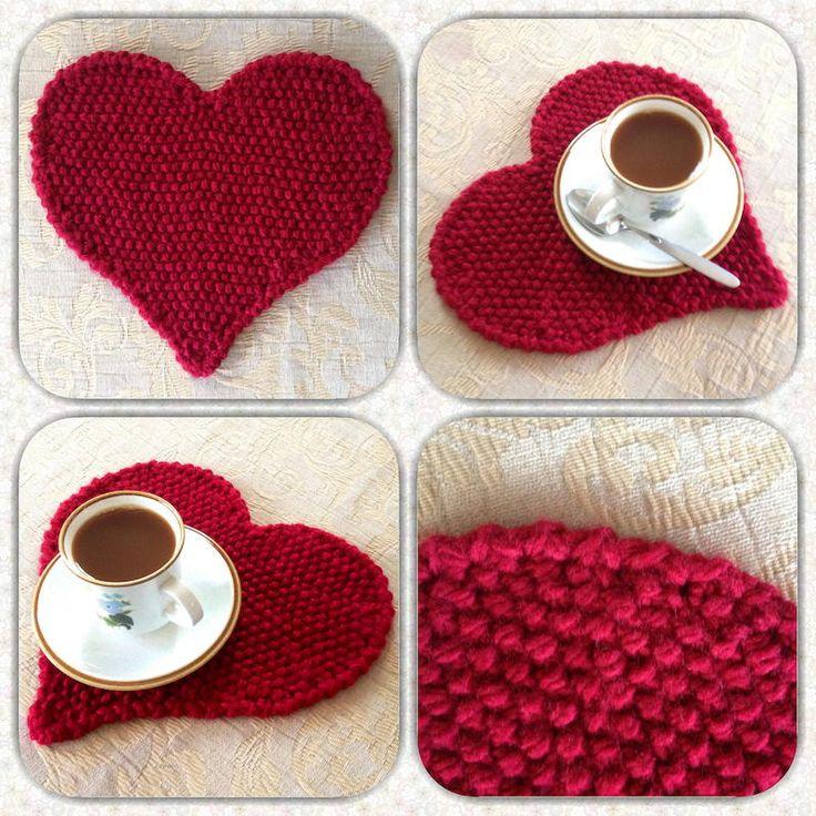 Heart Placemat | AllFreeKnitting.com