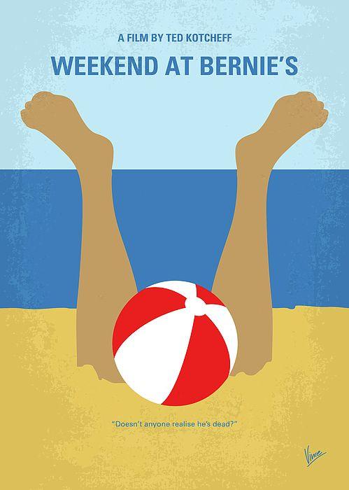 Tags: Weekend, at, Bernies, Andrew, McCarthy, company, Bernie, Lomax, summer, beach, vacation, hamptons, mafia, boss,  minimal, minimalism, minimalist, movie, poster, film, artwork, cinema, alternative, symbol, graphic, design, idea, chungkong, chung, kong, simple, cult, fan, art, print, retro, icon, style, sale, gift, room, wall, hollywood, classic, comedy, original, time, best, quote, inspiration