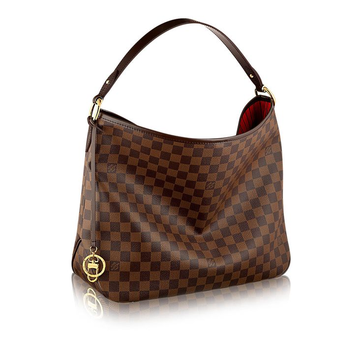 Discover Louis Vuitton Delightful MM: The Delightful MM embodies everyday elegance. In supple yet resistant Damier Ebène canvas, its lightweight feel, generous interior and luxuriously soft embossed handle make it chic and practical.