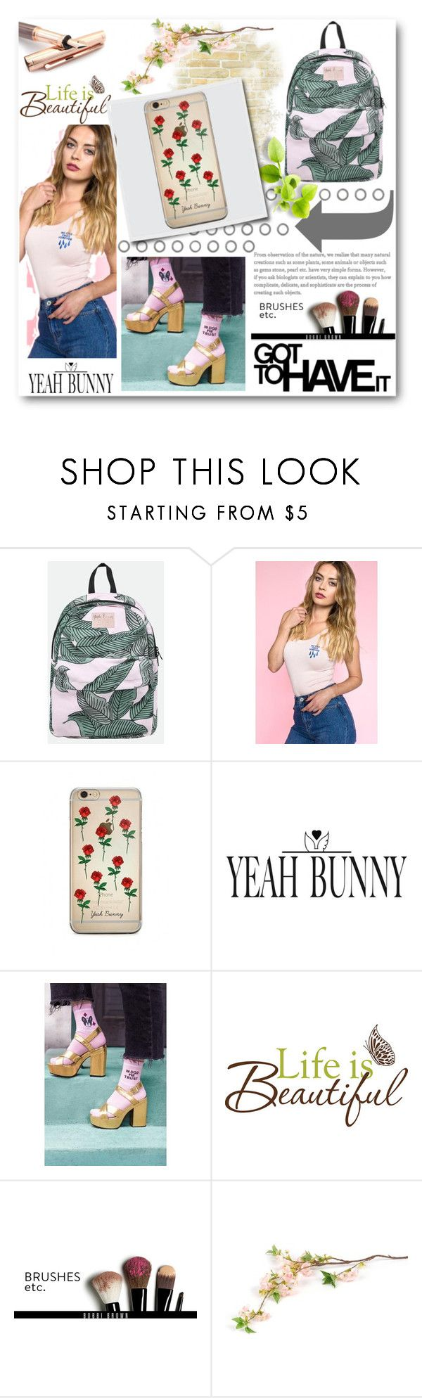 """YEAH BUNNY contest with prize!-90$ gift coupon"" by luisa-lisa ❤ liked on Polyvore featuring Yeah Bunny, Wall Pops!, Fountain and Bobbi Brown Cosmetics"