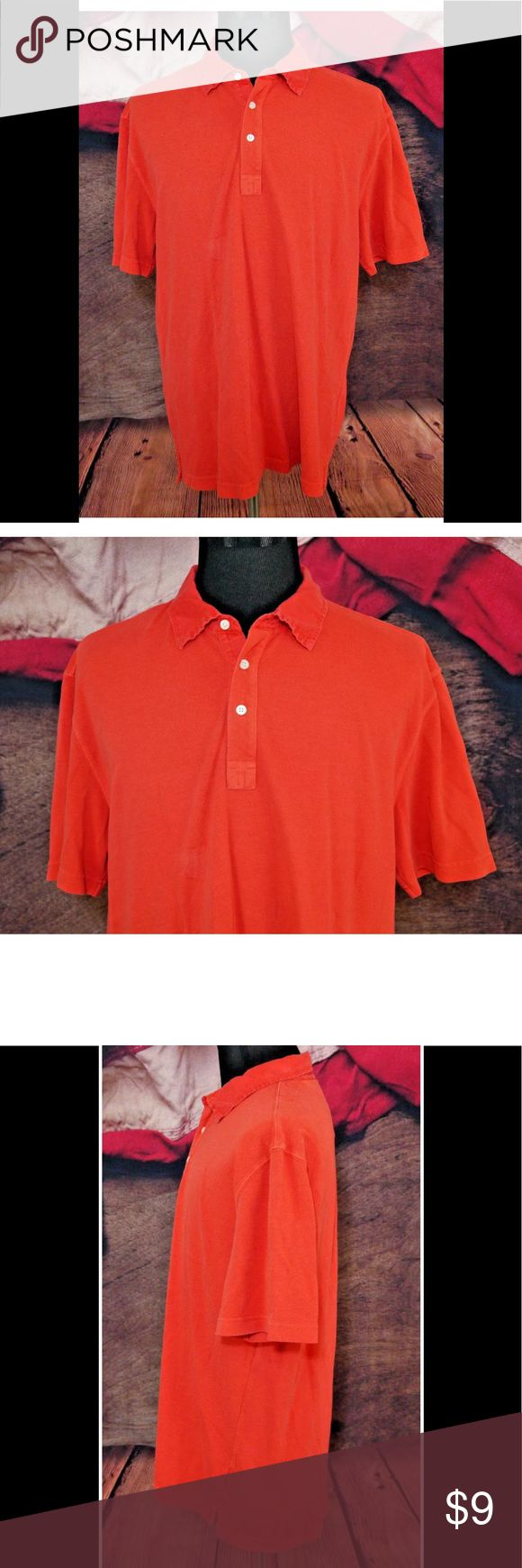 """Robert Talbott Carmel XL Red Orange Polo Shirt Pre-Owned in Excellent Condition Robert Talbott Carmel XL Red Orange Cotton Polo Shirt EUC   Size: XL  Material: 100% Cotton  Color: Red Orange  Measurements: Chest: 23"""" / Sleeve: 10"""" / Shoulders: 22"""" / Length: 29"""" Robert Talbott Shirts Polos"""