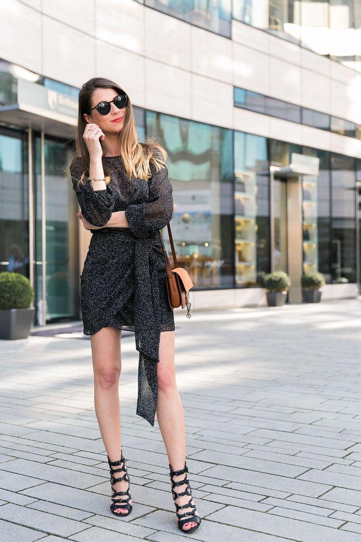 Dress with Dots & Chloé Faye Bag