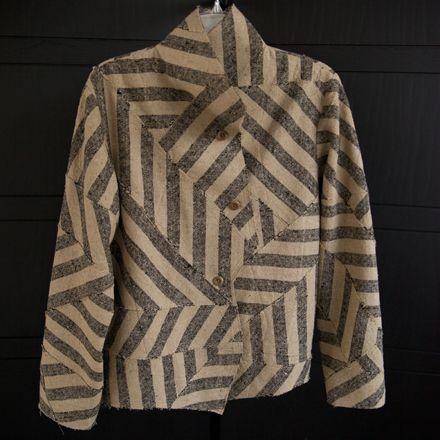 Cropped zigzag jacket, vintage broad stripes.  $1895.