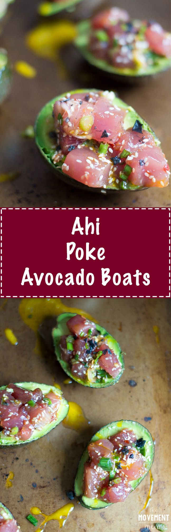 This Ahi Poke Avocado Boats recipe are super quick to make & are the perfect dish to bring to a barbecue/potluck. The flavors are simple, yet incredibly vibrant. TheMovementMenu.com