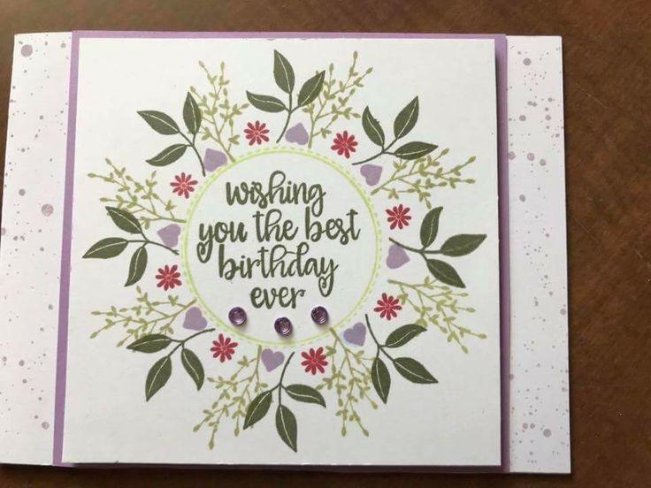 pinkaren hall lambert on art cards with wreaths  card