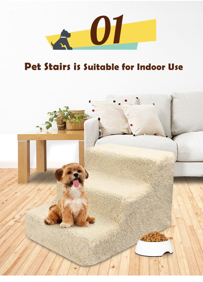 Does Your Pet Have Difficulty Climbing Up To His Favorite Spot? The solution is this convenient dog steps!