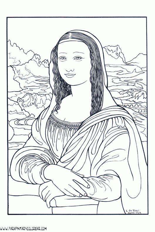 Pintores famosos: Leonardo Da Vinci para niños. Cómo trabajar la Mon...