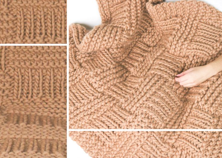 M s de 1000 ideas sobre manta gruesa en pinterest mantas - Puntos para calcetar ...