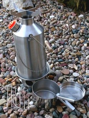 Kelly Kettle Kit -Kelly Kettle is a fourth generation company founded in Ireland. They now offer updated versions of the famous high efficiency cone water heating design developed and used for hundreds of years by Irishman who simply wanted a hot cup of tea during wet, windy, and rainy weather.