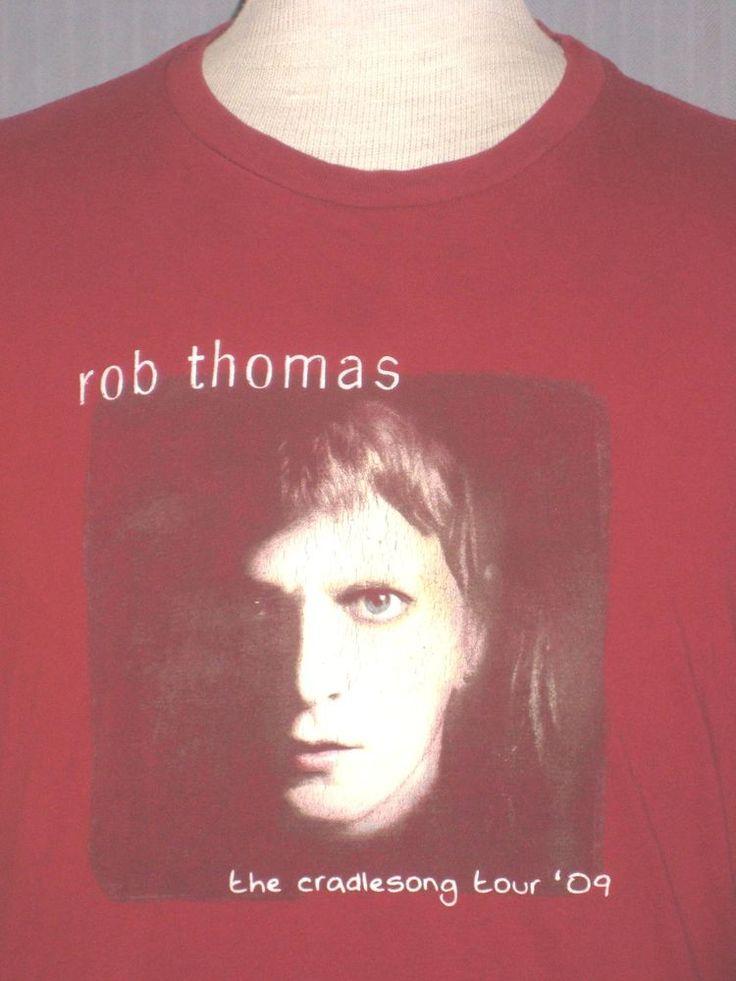 2009 Rob Thomas Adult Medium Red Tour Concert T-Shirt (M Matchbox 20 Rock Band) #NextLevel #GraphicTee