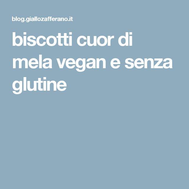 biscotti cuor di mela vegan e senza glutine