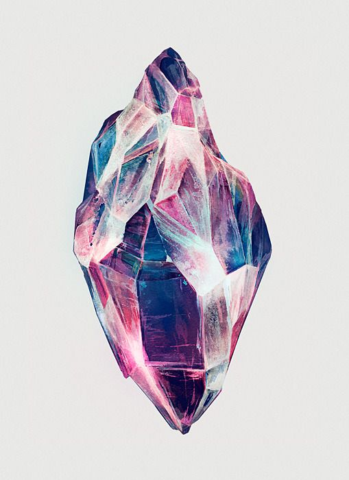 Karina Eibatova (Eika) is an illustrator and fine artist based in Moscow, Russia.  This is called Mineral. <3 $50