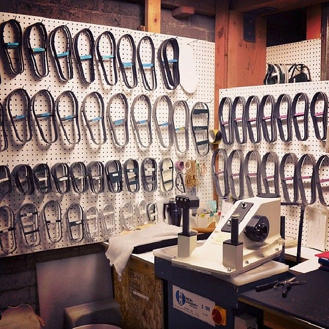 The sole-cutting station of our workshop. #shoes #handmade #madeinusa #picoftheday